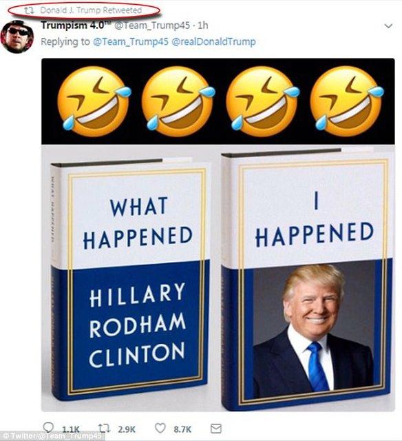 ترامپ کتاب جدید کلینتون را به تمسخر گرفت