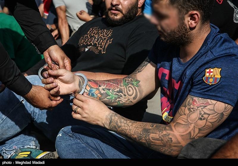 طرح سراسری دستگیری اراذل و اوباش و مزاحمین محلات (عکس)