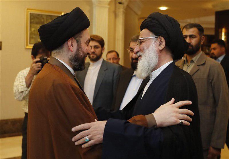 دیدار آیتالله شاهرودی با عمار حکیم/ تأکید بر حمایت تهران از بازسازی عراق
