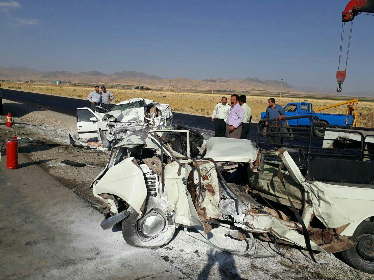 5 کشته در تصادف جاده کامیاران-کرمانشاه (+عکس)