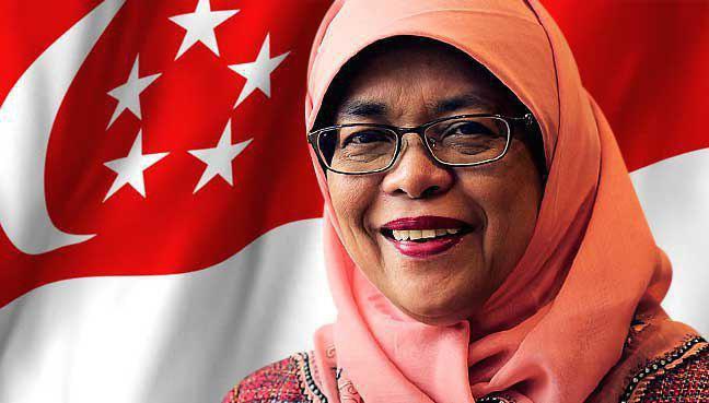 اولین رئیسجمهور زن محجبه در سنگاپور انتخاب شد (+عکس)