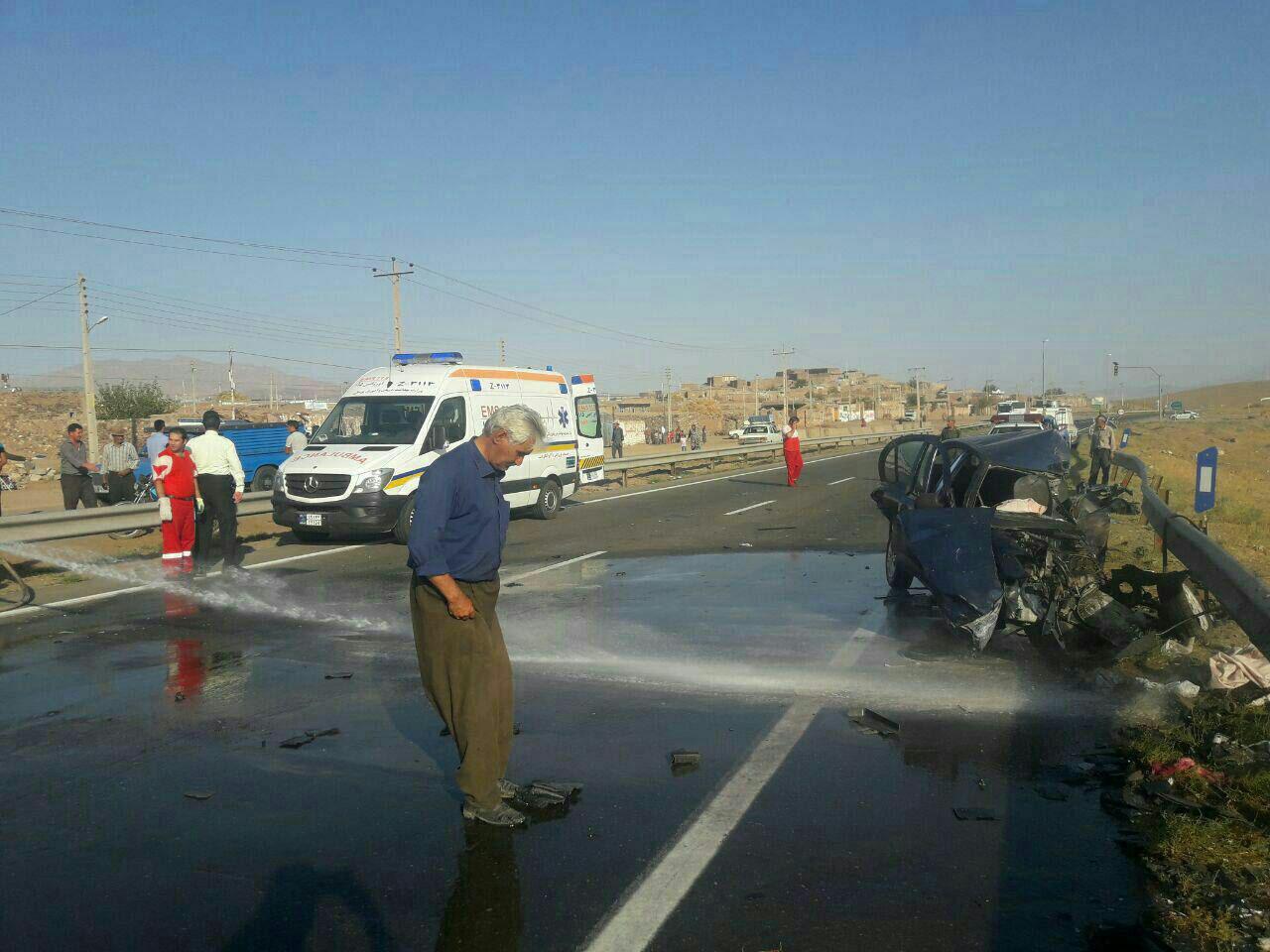 2 کشته و 7 زخمی در تصادف جاده آذربایجان شرقی (+عکس)