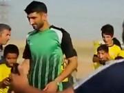 وفای به عهد علیرضا بیرانوند/دروازه بان پرسپولیس قول داده بود که با بچههای مناطق محروم فوتبال بازی کند(فیلم)