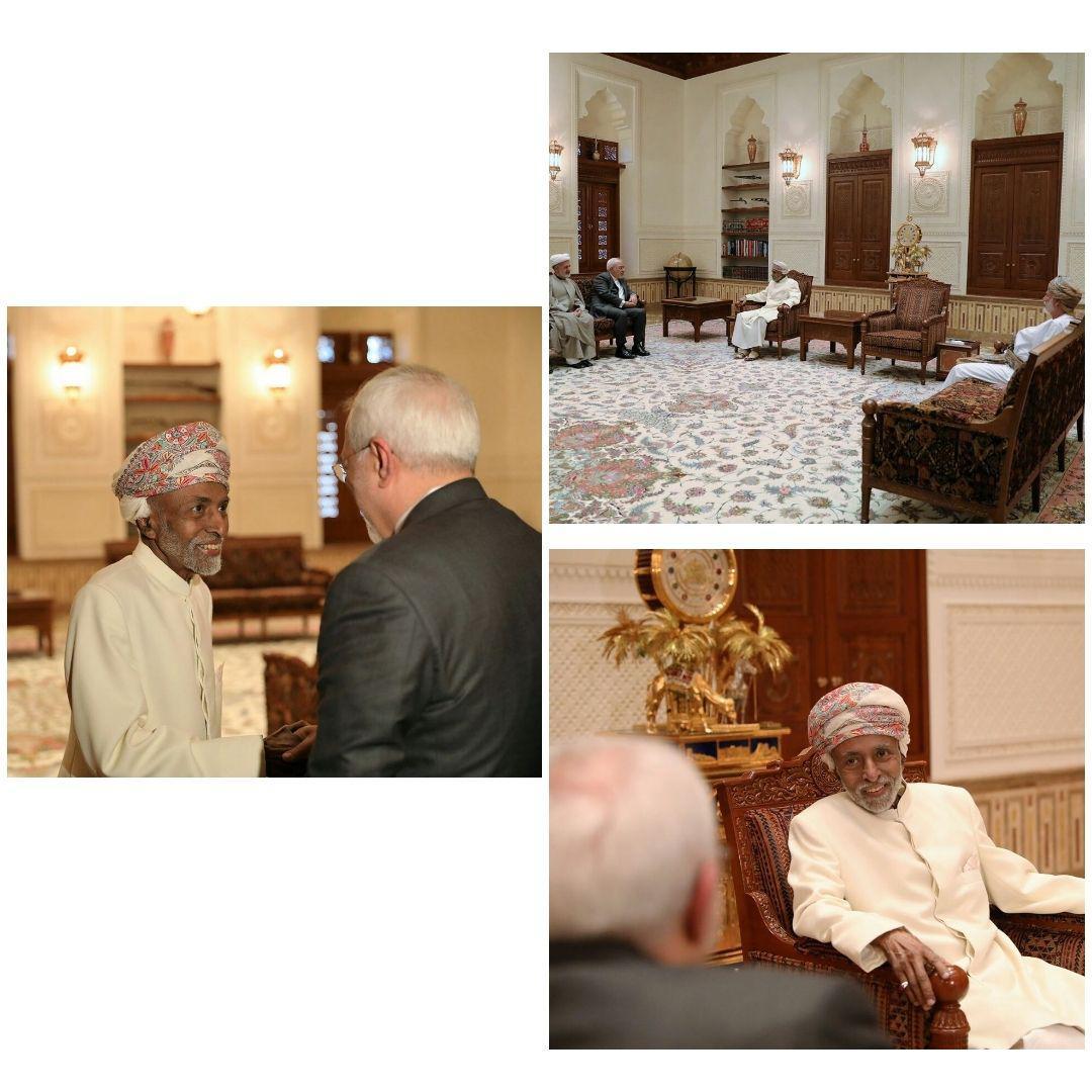 دیدار ظریف و پادشاه عمان (+عکس)