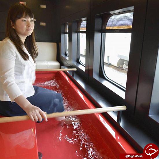 تدبیر راه آهن ژاپن برای خستگی مسافران (+عکس)