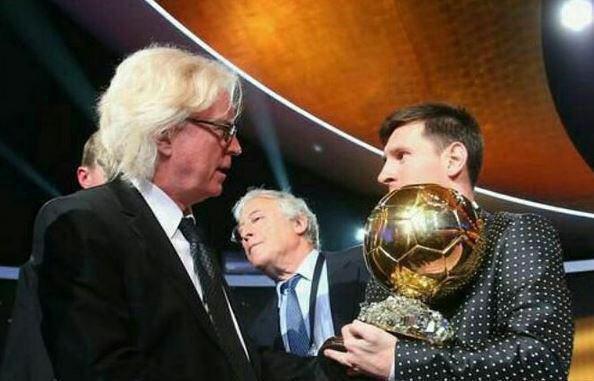 شفر و مسی در حاشیه مراسم اهدای توپ طلای 2012 (عکس)