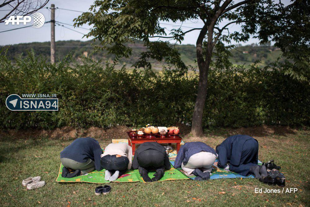 ادای احترام خانواده اهل کره جنوبی به اجداد خود در کره شمالی (عکس)