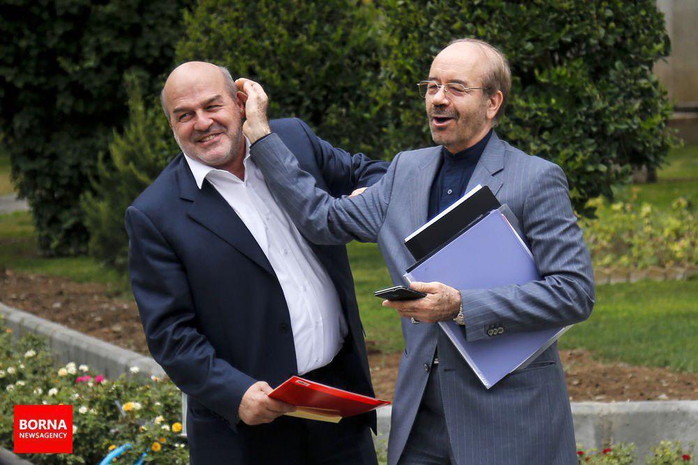 شوخی سرپرست وزارت نیرو با رئیس سازمان محیط زیست (عکس)