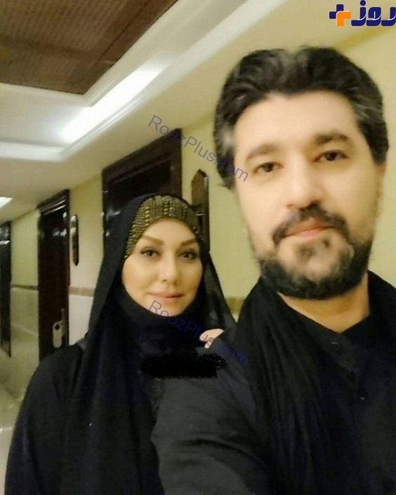 آقای مجری و همسرش در نجف (عکس)