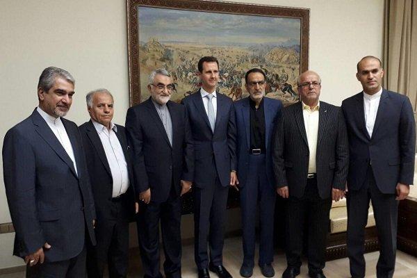 دیدار هیات پارلمانی ایران با بشار اسد