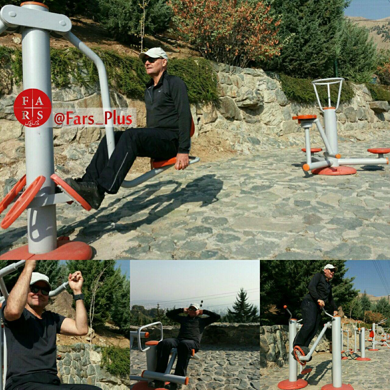 سفیر آلمان در حال ورزش در پارک جمشیدیه (عکس)