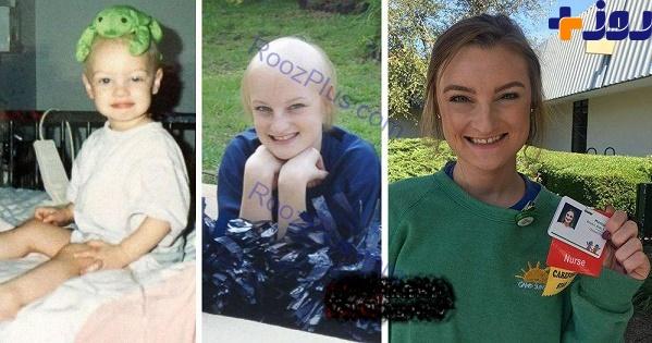 این دختر پس از دوبار مبارزه با سرطان پرستار شد (عکس)
