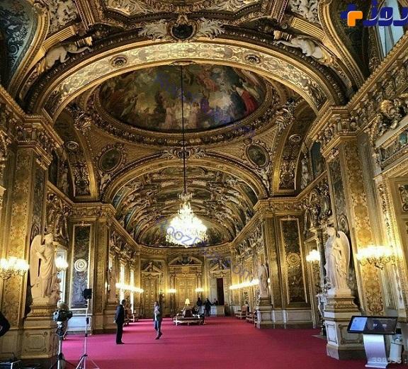 نمای داخلی جالب مجلس سنای فرانسه (عکس)