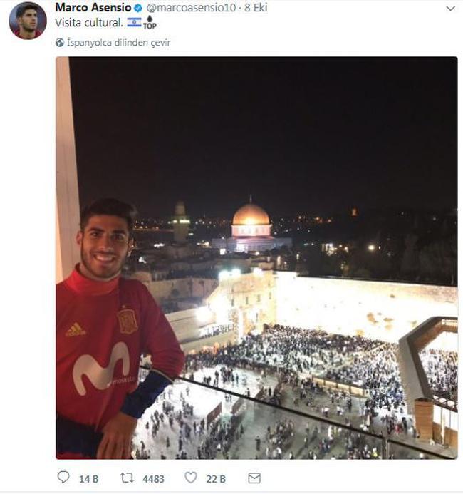 سلفی دردسرساز بازیکن فوتبال اسپانیا در کنار مسجد الاقصی(+عکس)