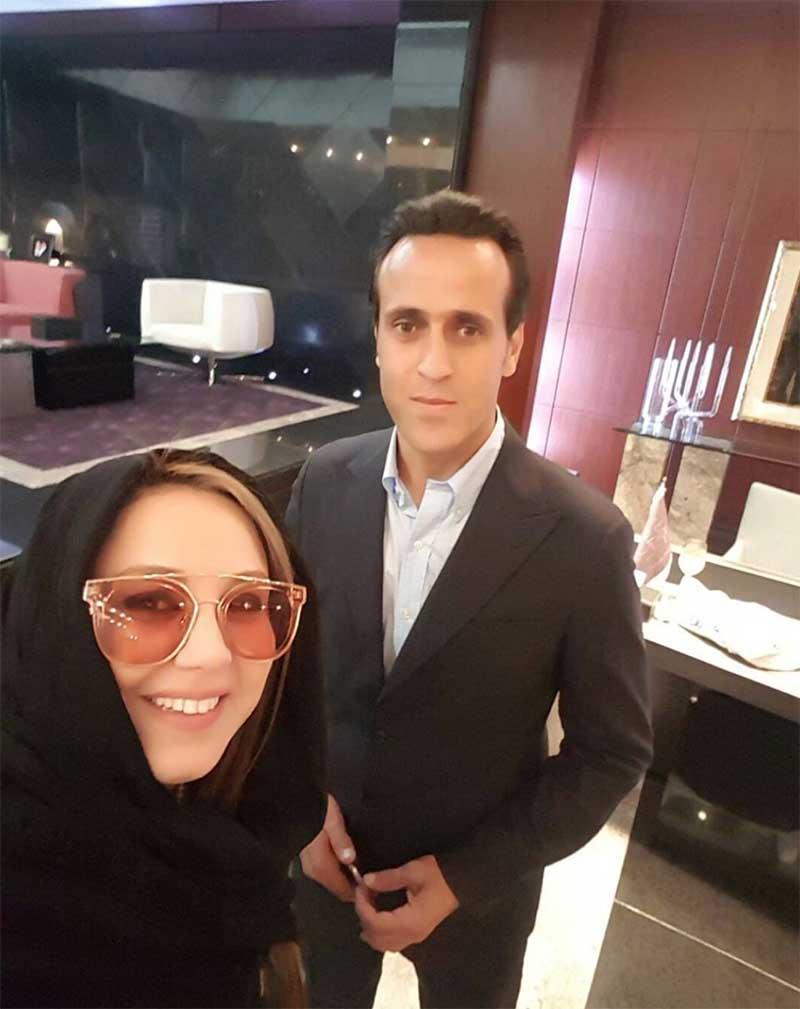 سلفی بهنوش بختیاری با علی کریمی! (عکس)