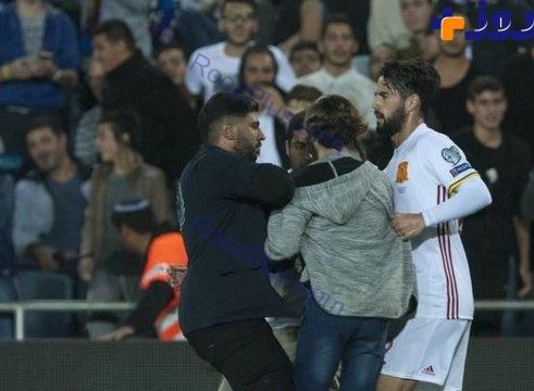 حمله تماشاگر اسراییلی با چاقو به فوتبالیست مشهور (+عکس)