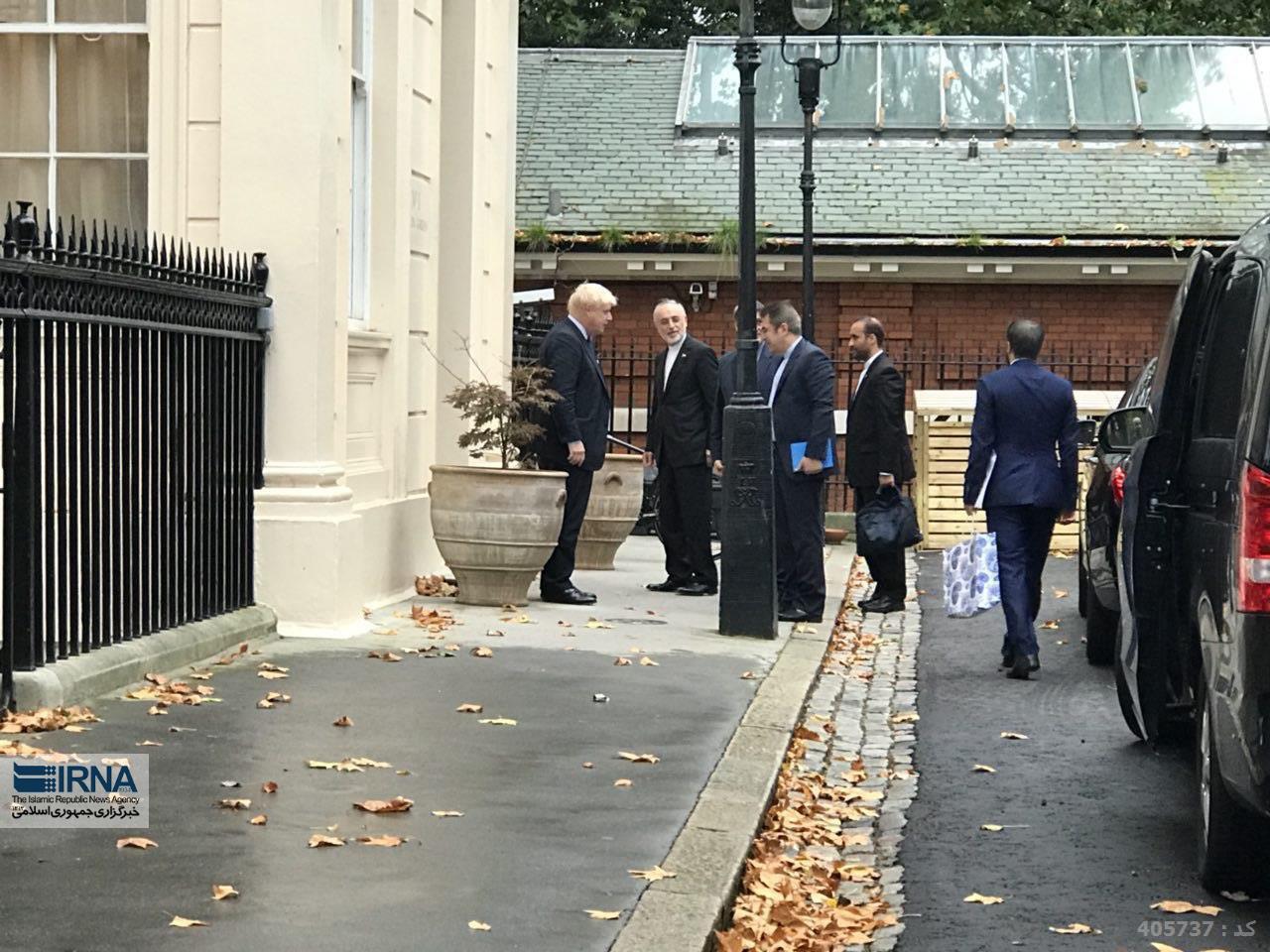 استقبال وزیر خارجه انگلیس از رئیس سازمان انرژی اتمی ایران (عکس)