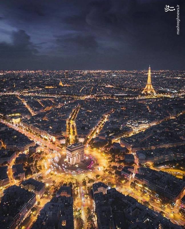نمایی زیبا از شهر پاریس (عکس)