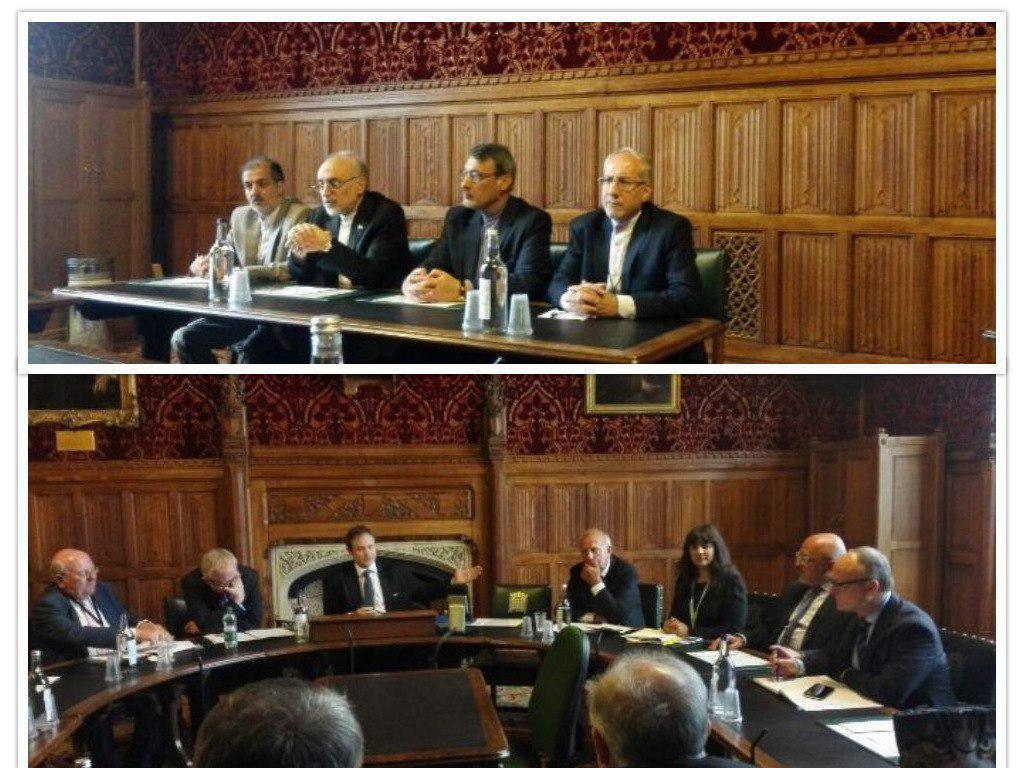 حضور صالحی در کمیته روابط خارجی مجلس انگلیس (+عکس)