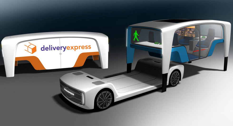 اسکیتبوردی با کابین مسافری در خودروهای آتی رایناسپید