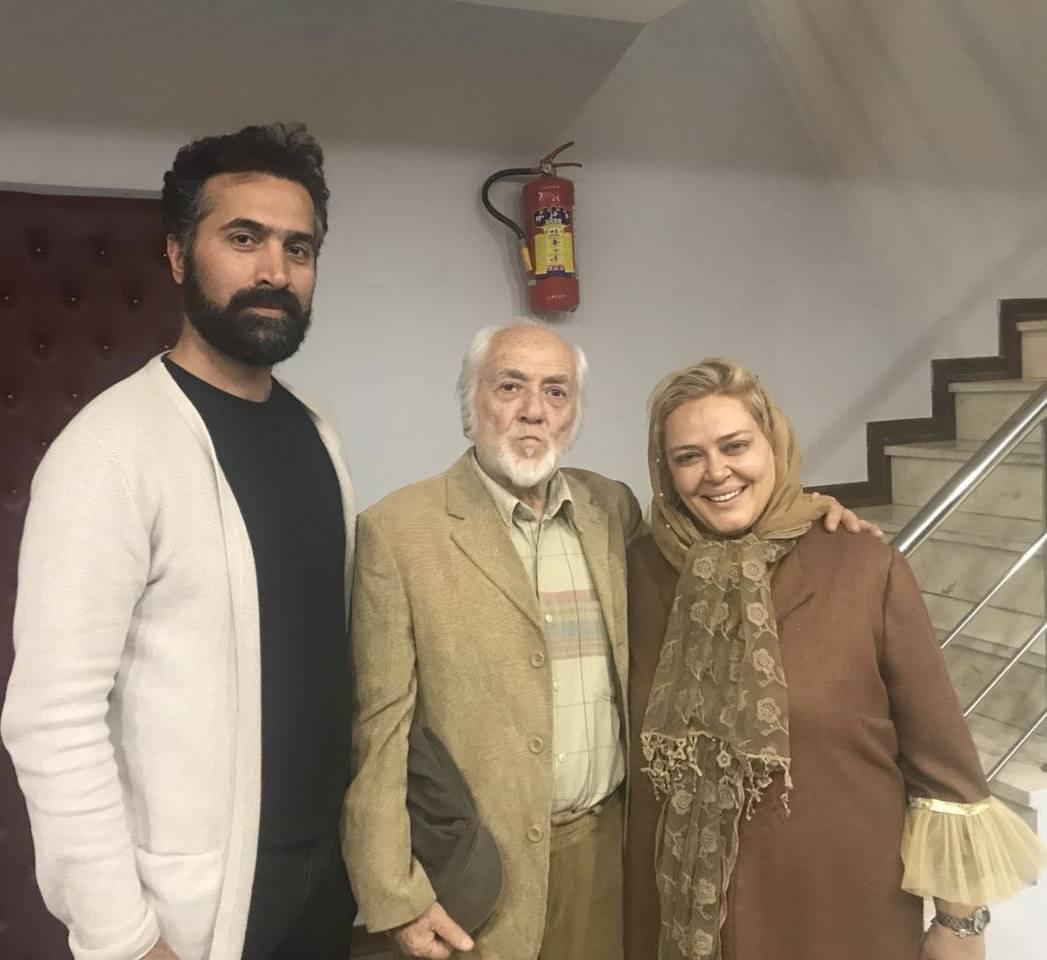 بهاره رهنما در کنار پدر و همسرش (عکس)