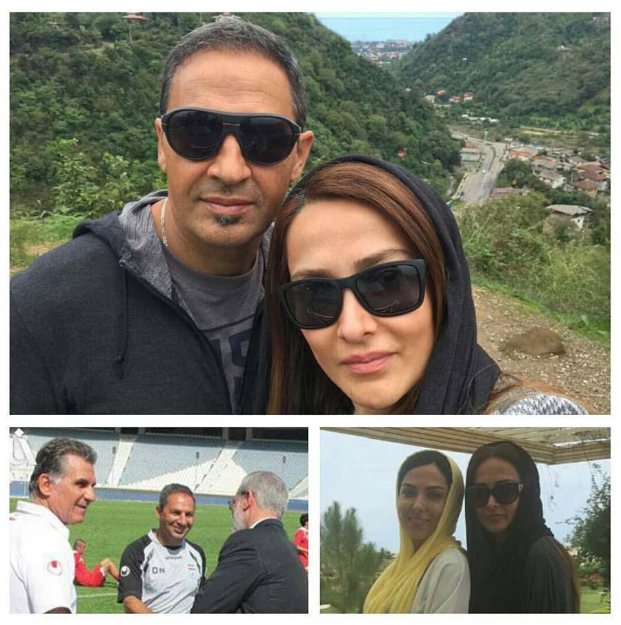 ازدواج مربی سابق تیم ملی با خواهر لیلا اوتادی (عکس)،