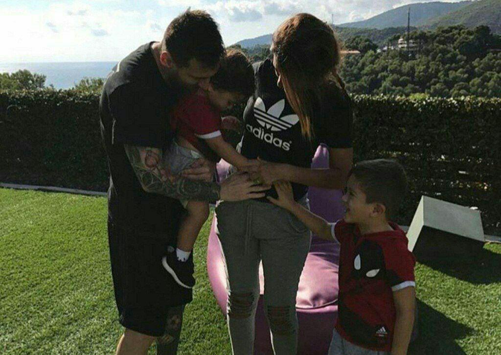 خانواده مسی در انتظار سومین فرزند (+عکس)