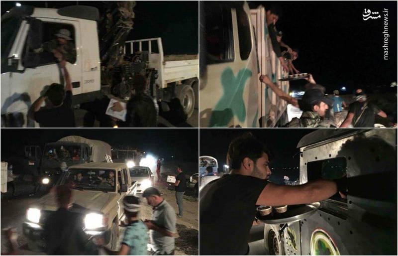استقبال مردم کرکوک از نیروهای عراقی (عکس)