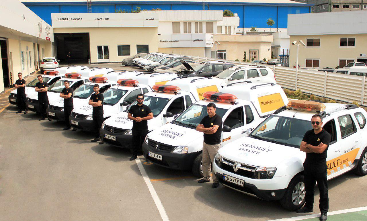 سرویس دهی به 200 خودروی رنو  در روز