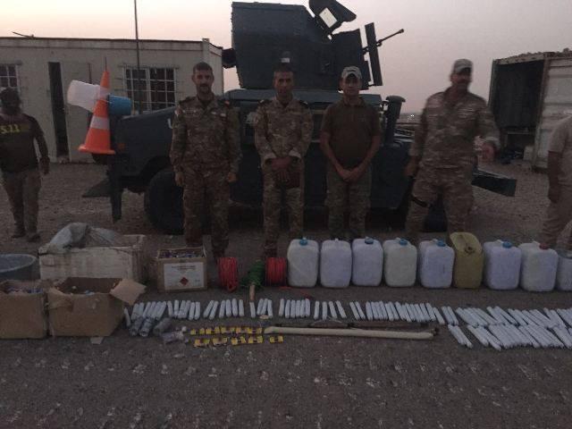 کشف یک کارگاه ساخت بمب در کرکوک عراق (+عکس)