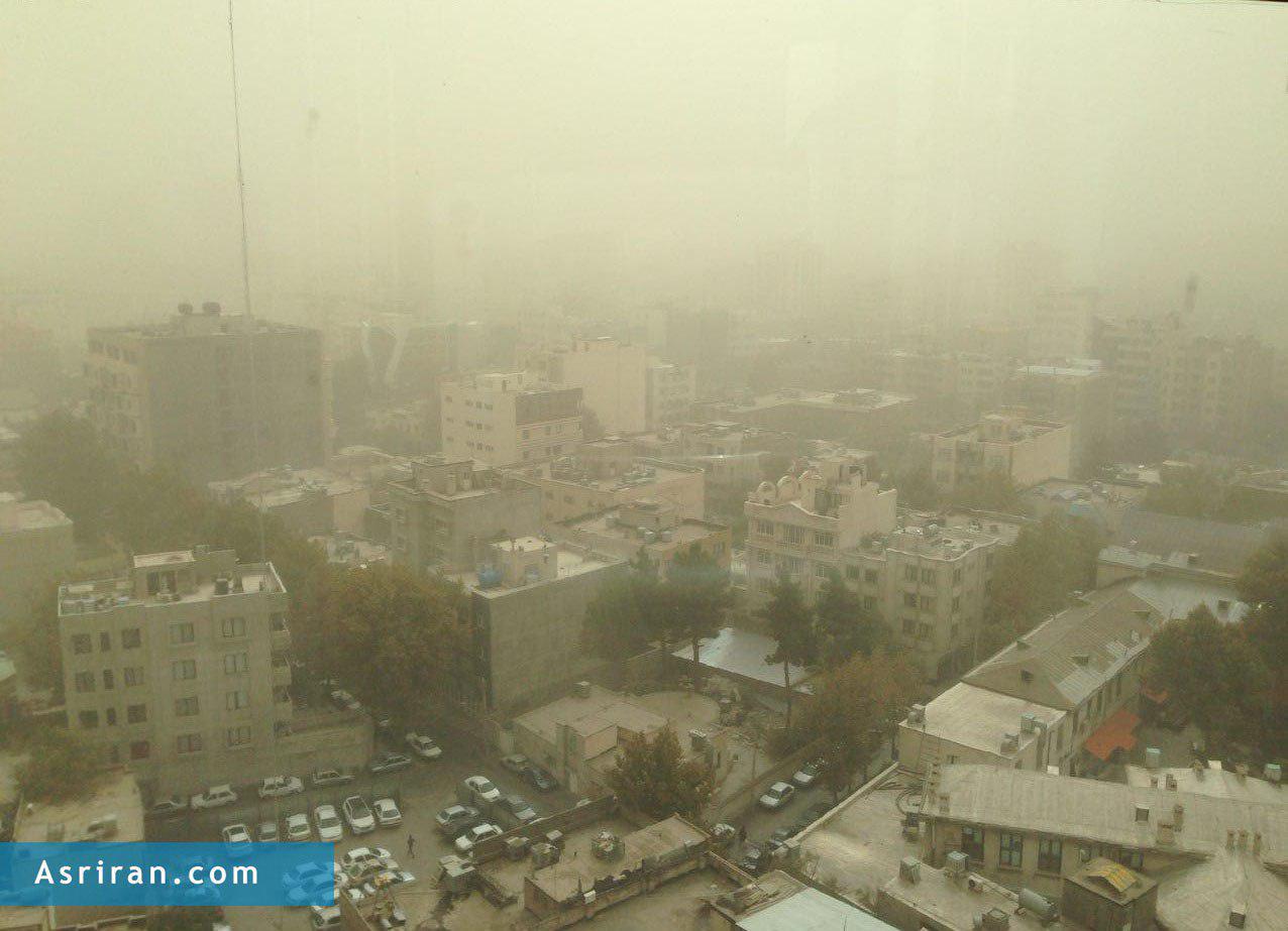 گرد و غبار شدید در مشهد (+عکس)