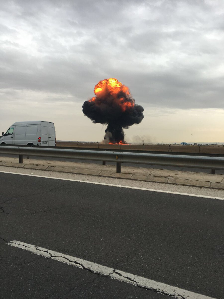 سقوط جنگنده اسپانیا در نزدیکی مادرید (+عکس)