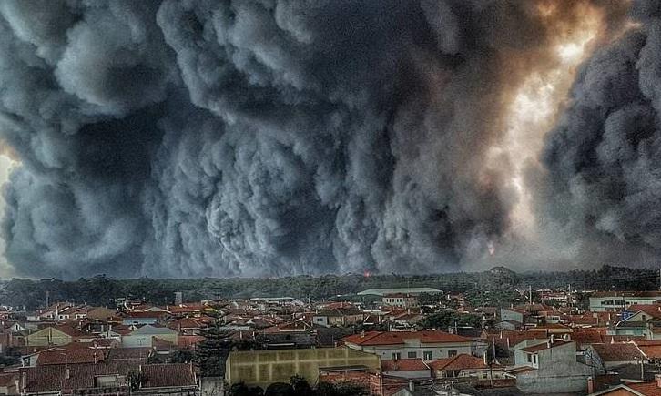 صحنهای وحشتناک در آسمان پرتغال (عکس)