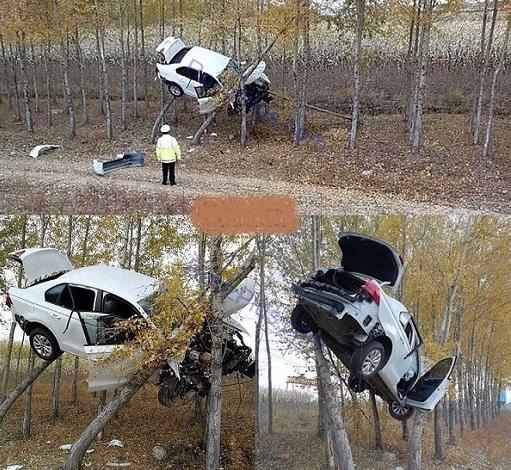 تصادف عجیب در چین (عکس)