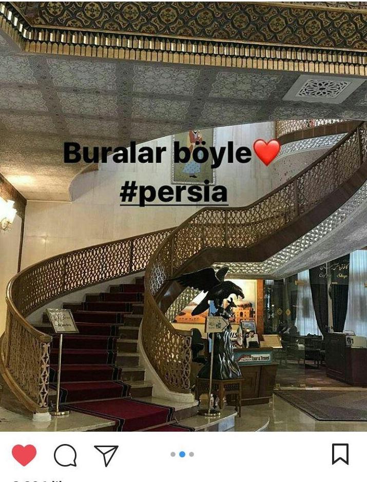 بازیگر معروف ترکیهای در اصفهان (+عکس)