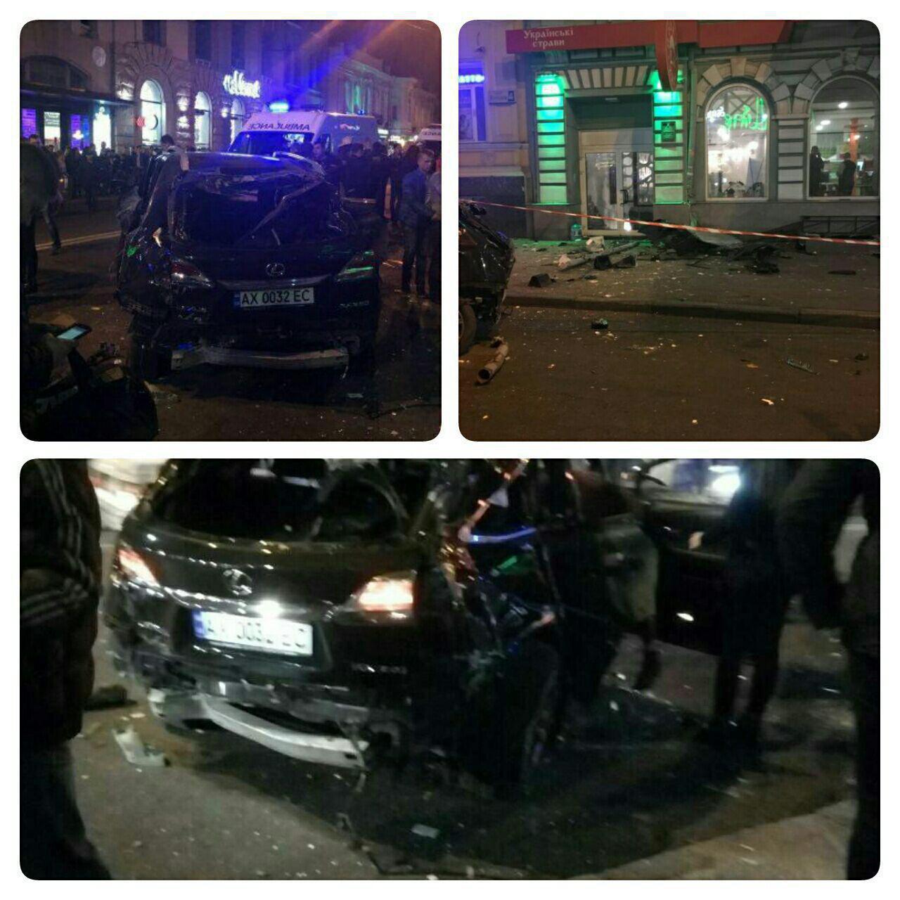 برخورد خودرو با مردم در اوکراین/ 5 کشته و 6 زخمی (+عکس)