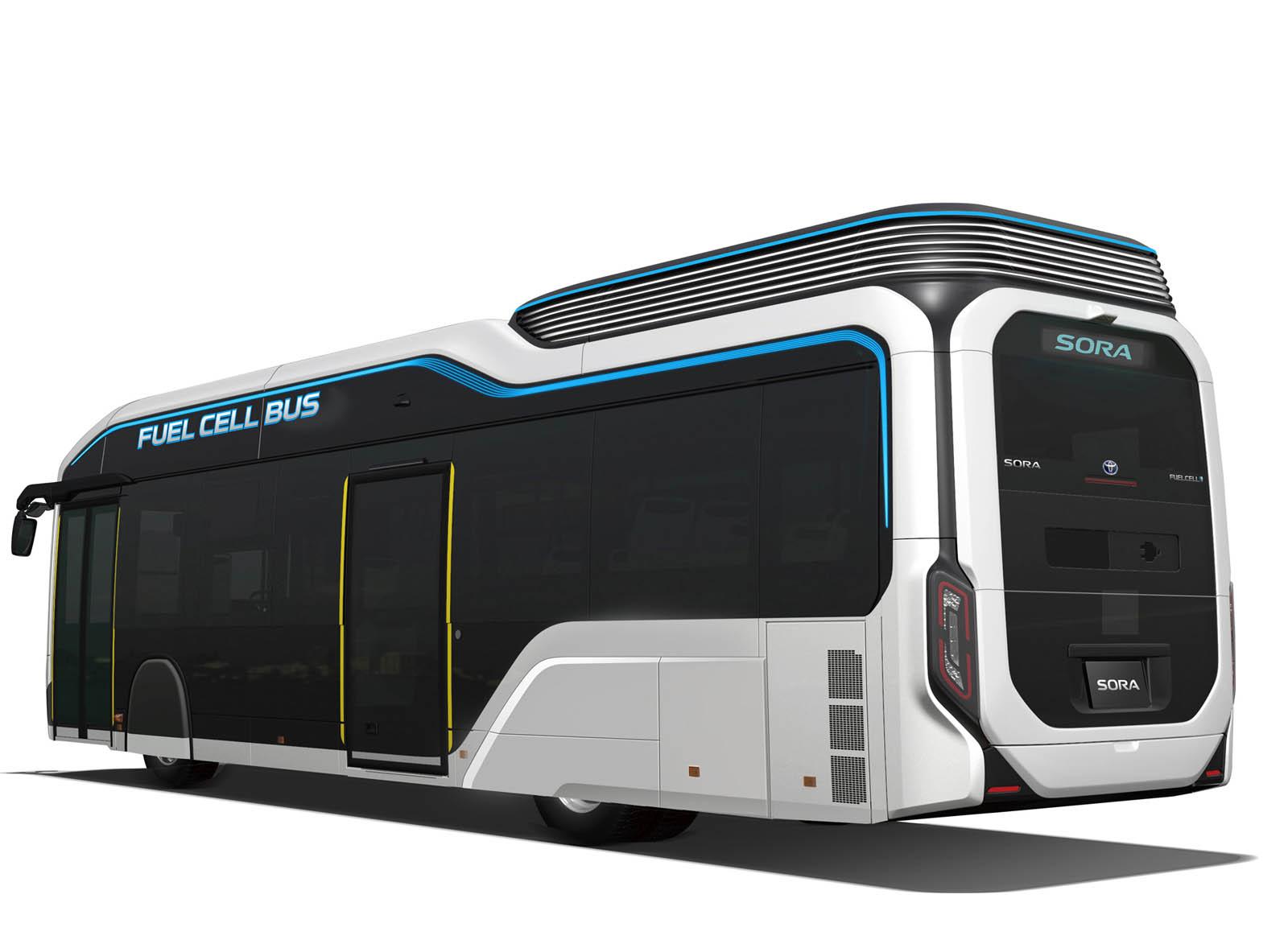 تولید اتوبوسهای هیدروژنی تویوتا برای بازیهای المپیک ژاپن