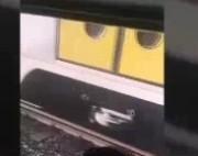 خروج قطار تهران-کرج از ریل (فیلم)