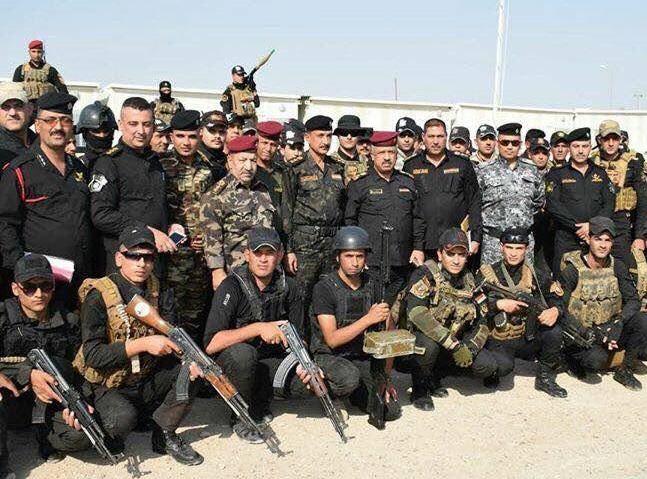 تیم حفاظت از تاسیسات نفتی کرکوک (عکس)