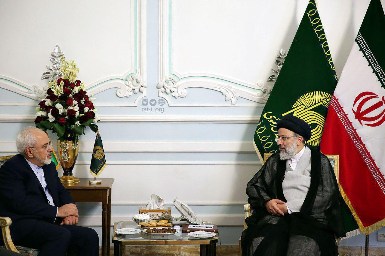 دیدار ظریف و رئیسی (عکس)