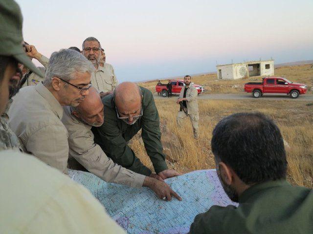 حضور سرلشکر باقری در حلب سوریه