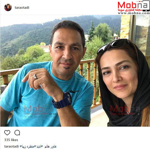 تارا اوتادی و همسر فوتبالیستش در رامسر (عکس)