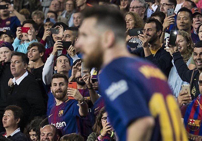 عکسی جالب از مسی و بدل ایرانی در بازی بارسلونا و مالاگا