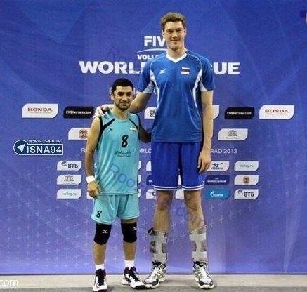 کوتاه و بلند قدترین والیبالیست های جهان (+عکس)