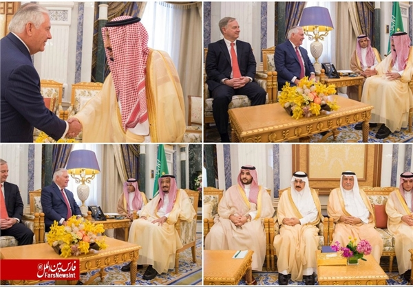 دیدار تیلرسون و پادشاه عربستان (+عکس)