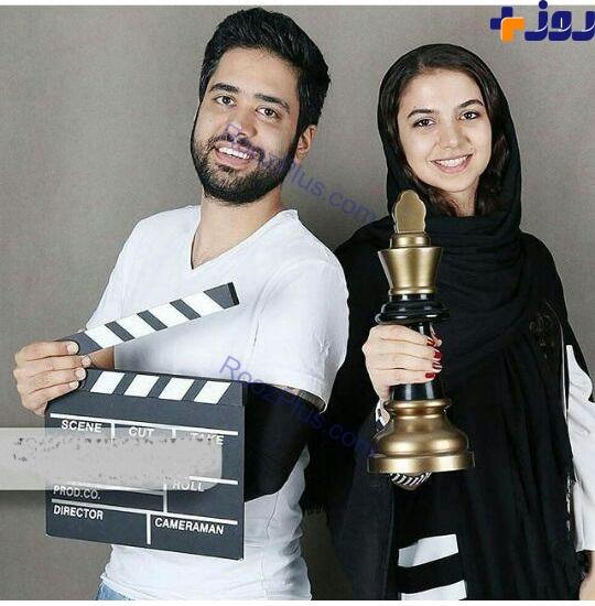 بانوی قهرمان شطرنج ایران و همسرش(عکس)