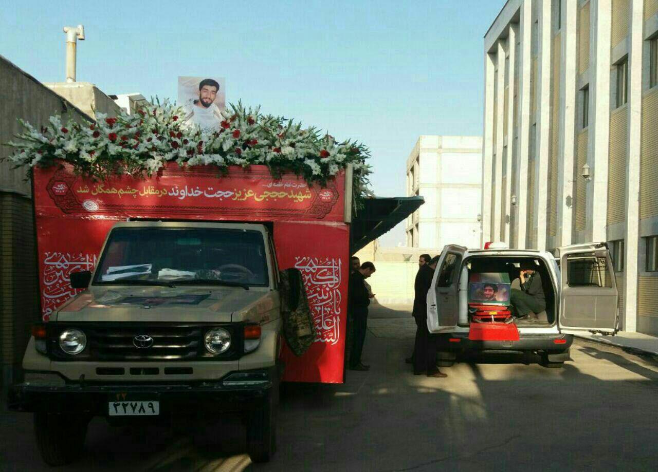 شهید حججی به زادگاه خود رسید (+عکس)