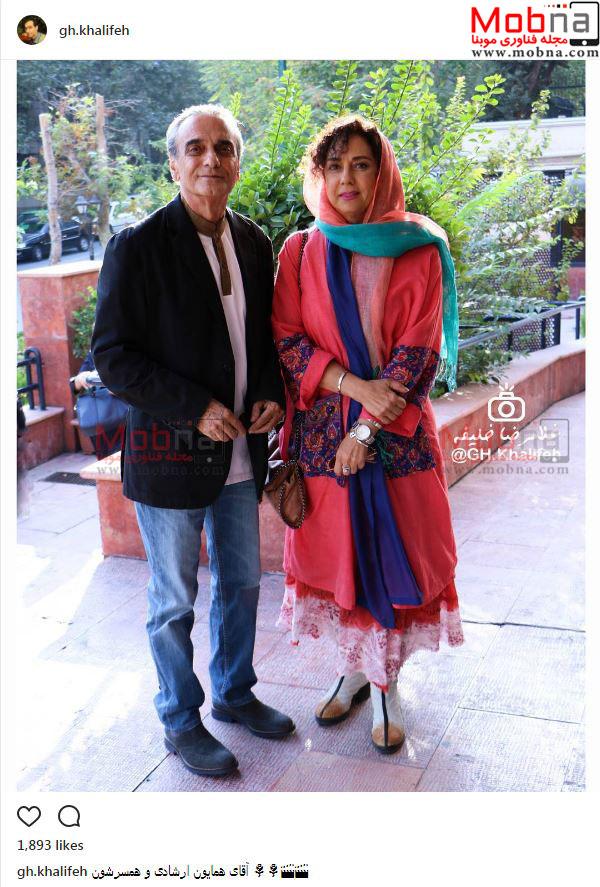 همایون ارشادی و همسرش (عکس)