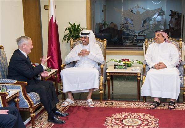 دیدار وزیر دفاع آمریکا با امیر قطر در دوحه (+عکس)