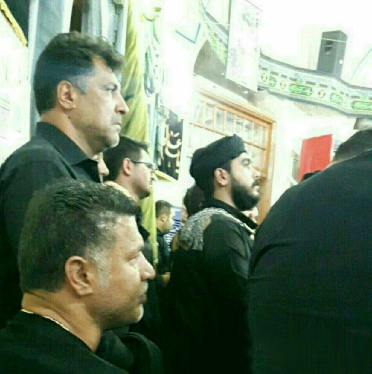علی دایی در مراسم عزاداری تاسوعا (عکس)